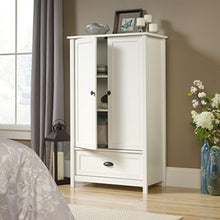 "Load image into Gallery viewer, County Line Armoire, L: 33.31"" x W: 18.58"" x H: 56.97"", Soft White finish - EK CHIC HOME"