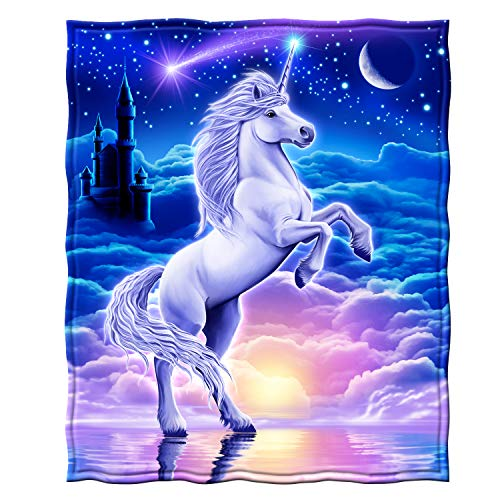 Unicorn Fleece Throw Blanket - EK CHIC HOME
