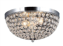 Load image into Gallery viewer, Elipse Crystal 2 Light Ceiling Flush Mount, Chrome - EK CHIC HOME