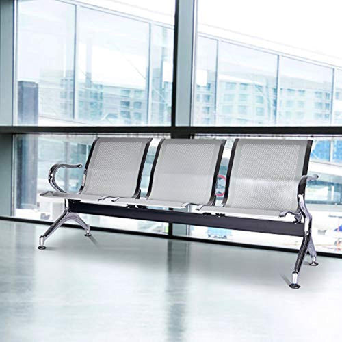 Airport Reception Chairs Waiting Room Chair 3 Seat Reception Bench for Office, Business, Bank, Hospital - EK CHIC HOME