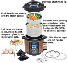 Load image into Gallery viewer, 9 in 1 Total Package Instant Programmable Pressure Cooker, 6 Quart - EK CHIC HOME
