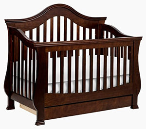 Million Dollar Baby Classic Ashbury 4-in-1 Convertible Crib with Toddler Bed Conversion Kit - EK CHIC HOME