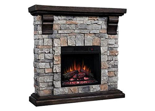 Classic Flame Pioneer Stone Electric Fireplace Mantel Package - EK CHIC HOME