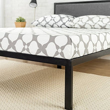 Load image into Gallery viewer, 14 Inch Platform Metal Bed Frame with Upholstered Headboard / Mattress Foundation / Wood Slat Support - EK CHIC HOME