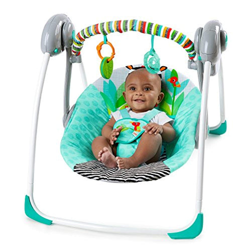 Zig Zag Zebra Portable Swing - EK CHIC HOME