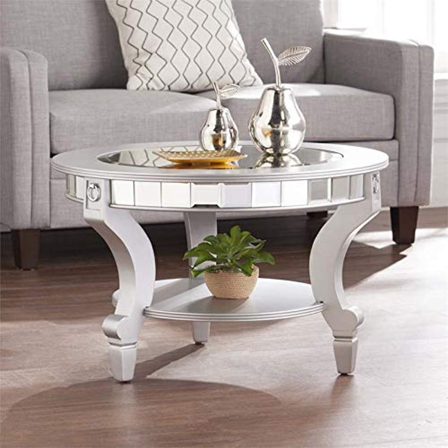 - Glam Round Mirrored Coffee Table – EK CHIC HOME