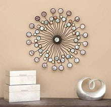 "Load image into Gallery viewer, Metal Wall Modern Iron Starburst Wall Decor, 27"" - EK CHIC HOME"