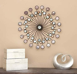 "Metal Wall Modern Iron Starburst Wall Decor, 27"" - EK CHIC HOME"