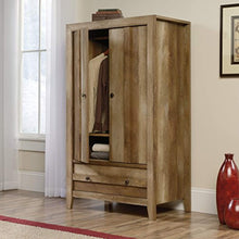"Load image into Gallery viewer, Rustic Chic Armoire, 33.78"" L x 19.53"" W x 57.84"" H, Craftsman Oak finish - EK CHIC HOME"