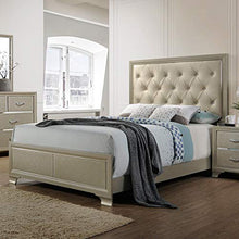 Load image into Gallery viewer, King Tufted Headboard Platform Bed Frame Classic Platform Bed Frame Gold - EK CHIC HOME
