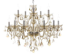 Load image into Gallery viewer, 15 Lights Crystals Chandelier Color Cognac - EK CHIC HOME