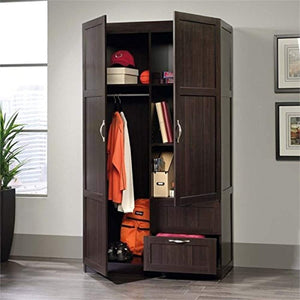 Wardrobe Armoire in Cinnamon Cherry - EK CHIC HOME