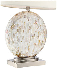 Load image into Gallery viewer, Chic Round Mother of Pearl Table Lamp - EK CHIC HOME