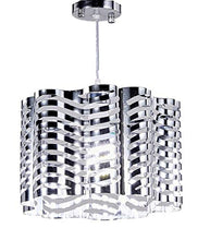 Load image into Gallery viewer, 1-Light Chrome Finish Metal Shade Chandelier Hanging Pendant Ceiling Lamp Fixture - EK CHIC HOME