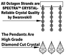 Load image into Gallery viewer, CHANDELIERS LIGHTING DRESSED WITH SWAROVSKI CRYSTAL - EK CHIC HOME