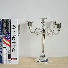 Load image into Gallery viewer, 5-Candle Metal Candelabra 10.6 Inch Tall Candle Holder - EK CHIC HOME