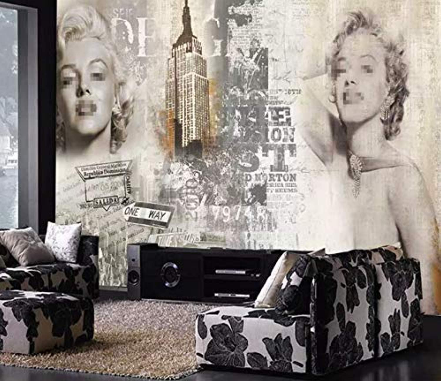 Marilyn Monroe Wallpaper Vintage Artistic Wall Art Ek Chic Home
