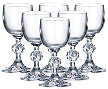 Load image into Gallery viewer, Set of 6 x 50 ml Stemmed Shot Glasses, 1.7 oz Crystal Glass, Lead Free - EK CHIC HOME