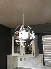 Load image into Gallery viewer, Industrial Vintage Pendant Light Silver&Gray Metal Globe Downlight Chandelier - EK CHIC HOME