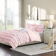 Load image into Gallery viewer, Waterfall Comforter Set Blush Full/Queen - EK CHIC HOME
