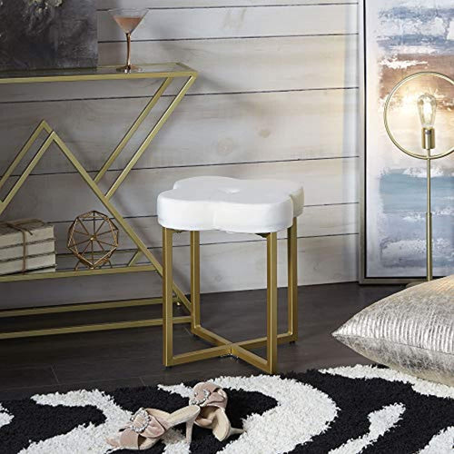 Vanity Bench, Cream and Gold