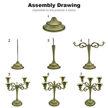 Load image into Gallery viewer, 5-Candle Metal Candelabra Candlestick 10.6 inch Tall Candle Holder - EK CHIC HOME