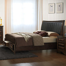 Load image into Gallery viewer, 6pcs Light Espresso Finish Queen Bedroom Set - EK CHIC HOME