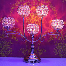 Load image into Gallery viewer, Chic 5 Arms Bowl Ball Crystal Candelabra/Candlesticks/Candle Holders - EK CHIC HOME
