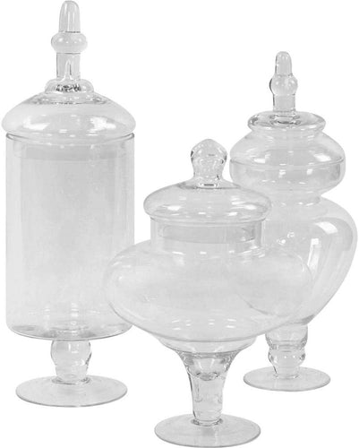 Couture, Large Canisters Set of 3, Candy Buffet Jars - EK CHIC HOME