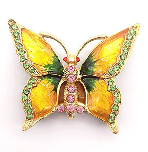 Butterfly Trinket Box Bejeweled Animal Figurine Collectible Ring Holder with Gift Box - EK CHIC HOME