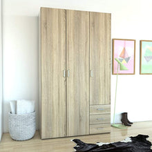 Load image into Gallery viewer, CHIC 3 Drawer & 3 Door Wardrobe Oak Structure - EK CHIC HOME
