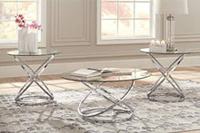 Load image into Gallery viewer, Hollynyx Contemporary 3-Piece Table Set - Includes Cocktail Table & Two End Tables - Chrome Finish - EK CHIC HOME