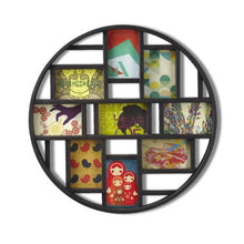 Load image into Gallery viewer, Chic Round Black 9-Opening 4x6 Collage Wall Frame - EK CHIC HOME