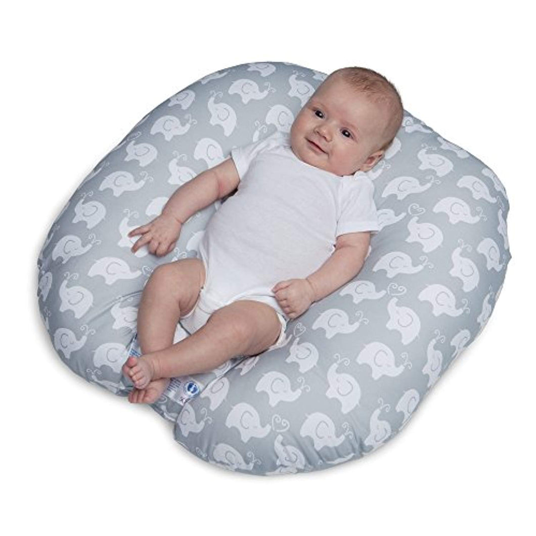 Boppy Newborn Lounger, Elephant Love Gray - EK CHIC HOME