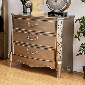 "Celine Nightstands 31"" H Gold - EK CHIC HOME"