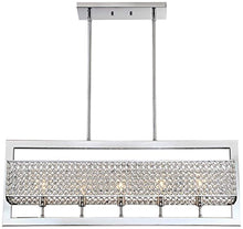 "Load image into Gallery viewer, CHIC Euro Centrale Chrome 33""W Crystal Island Chandelier - EK CHIC HOME"