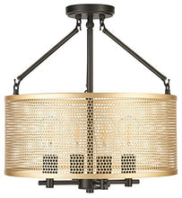 Load image into Gallery viewer, Gianni Chandelier Hanging Light Black w/Antique Brass - EK CHIC HOME