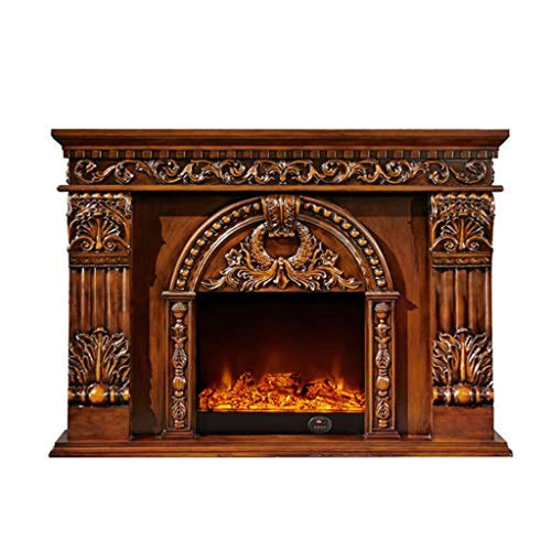 LUXURY Freestanding Heater, Indoor Heater with Log Burner Flame, Traditional Stove Design - EK CHIC HOME