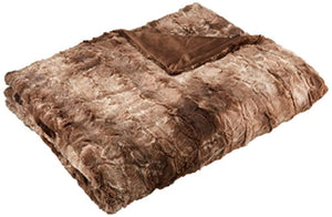 "ULTRA PLUSH Faux Fur Throw Blanket 63"" x 87"" - EK CHIC HOME"