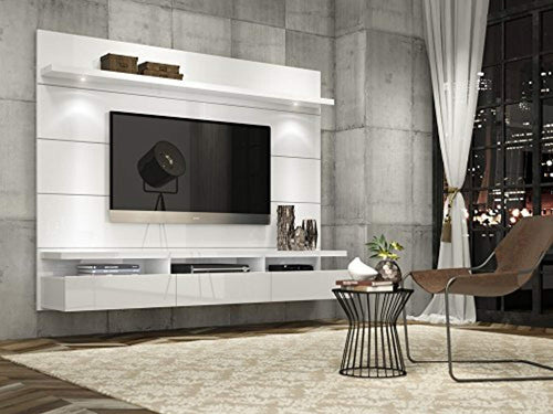 Theater Panel 2.2 Collection TV Stand with Drawers Floating Wall Theater Entertainment Center, 85.62