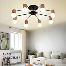 Load image into Gallery viewer, Modern Metal Wood Art Deco Ceiling Flush Mount Light - EK CHIC HOME