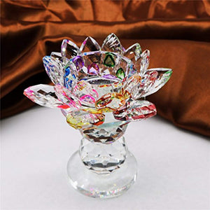 Crystal Lotus Flower Tealight Candle Holder 4.5 Inch - EK CHIC HOME