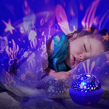 Load image into Gallery viewer, Night Light Projector, Ocean Constellation Night Lights Projector Lamp, Rotating and Colorful Mood Nursery Soother - EK CHIC HOME