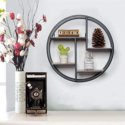 Floating Shelves Round Wood Wall Shelf as Hanging Shelves - EK CHIC HOME