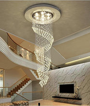 Load image into Gallery viewer, Crystal Raindrop Chandelier w/LED - EK CHIC HOME