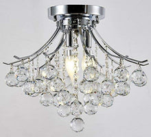 "Load image into Gallery viewer, Modern Style 4-Light Chrome Finish Crystal Chandelier W16"" x H12"" - EK CHIC HOME"