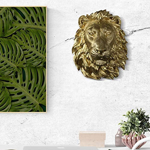 Wall Large Gold Lion Head 17
