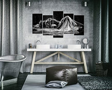 Load image into Gallery viewer, Naked Girl in The Rain Picture Canvas Print - EK CHIC HOME