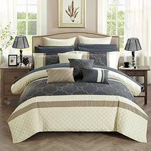 Load image into Gallery viewer, Chic 16 Piece Comforter Set, Queen, Off-White - EK CHIC HOME