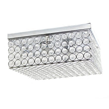 Load image into Gallery viewer, Elegant Designs Elipse Square Flushmount, 5.00 x 12.00 x 12.00, Chrome - EK CHIC HOME